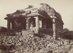 Iwullee. Ruined temple. From the north-east. [Durga Temple, Aihole.]
